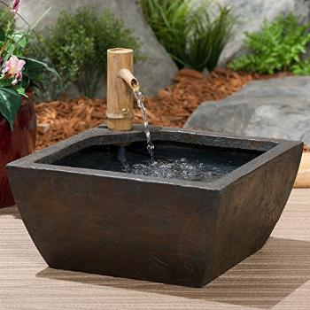 Aquascape 78197 Aquatic Patio Pond Water Garden with Bamboo