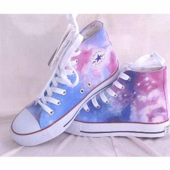 Custom Converse Galaxy Converse Sneakers Hand-Painted On Converse... ($46) ❤ liked on Polyvore fe