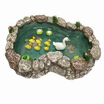 Duck Pond -Mother and Ducklings! A Miniature Duck Pond for a