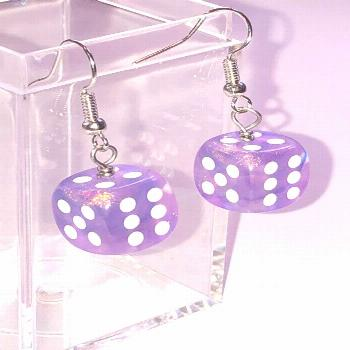 Excited to share this item from my shop: Purple sparkly dice earrings - earrings for gamer girls