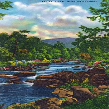 Great Smoky Mts. National Park, TN, View of Little River