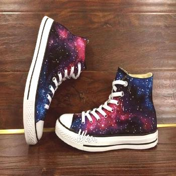 WEN Original Design Galaxy Shoes Galaxy Converse Customize Hand Painted Shoes,Painted Shoes Custom